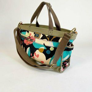 Fossil Floral Print Canvas East West Passport Tote